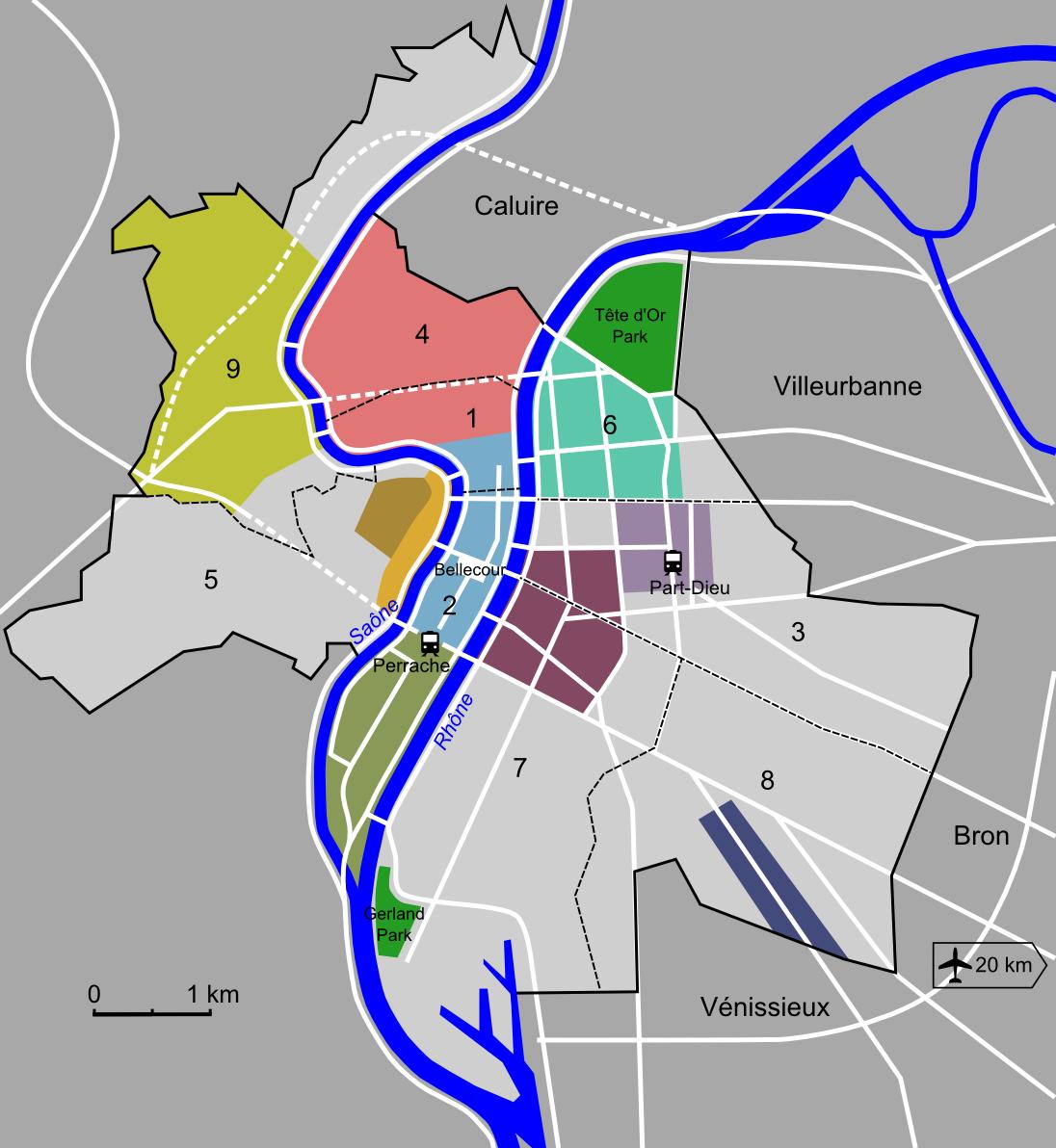 Lyon Districts