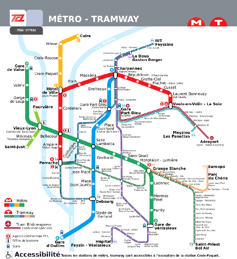 Public transport map