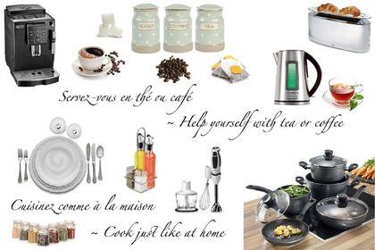 Kitchen equipment: Condiments, Tea and Coffee